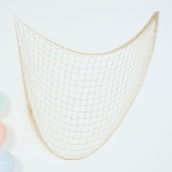 5Ft x 5Ft Natural Cotton Decorative Fish Net, Rustic Beach Decor