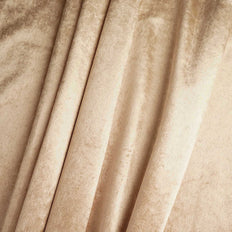 "5 Yards | Champagne | Velvet Fabric Bolt | 65"" Wide  Fabric Roll"