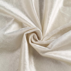 "5 Yards | 65"" Wide Ivory Velvet Fabric Bolt"