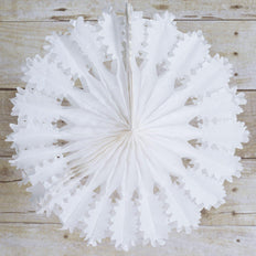 "12"" Majestic Hanging Honeycomb Tissue Fan 12/pk - White"
