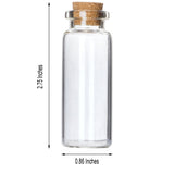 12 Pack .65 OZ Clear Glass Bottle With Cork