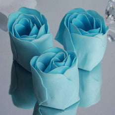 Pack of 6 - Blue Scented Rose Soap Party Favors with Gift Box and Ribbon
