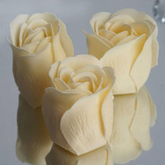 Pack of 6 - Ivory Scented Rose Soap Party Favors with Gift Box and Ribbon
