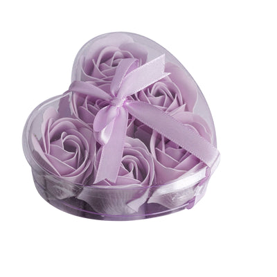 Pack of 6 | Lavender Scented Rose Favor Soap Gift Box with Ribbon | Baby Shower Favors
