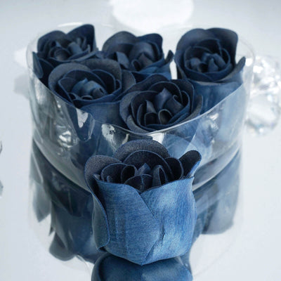 Wholesale Heart Rose Petal Soap Wedding Party Gift Favor Decoration - Navy Blue