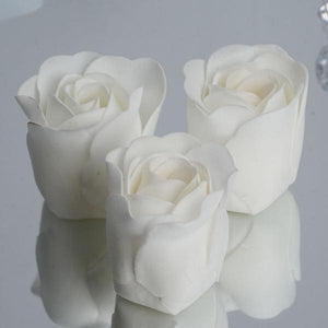 Pack of 6 - White Scented Rose Soap Party Favors with Gift Box and Ribbon