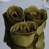 6 Pack Moss Green Scented Rose Flower Soap Gift Favor Box with Ribbon
