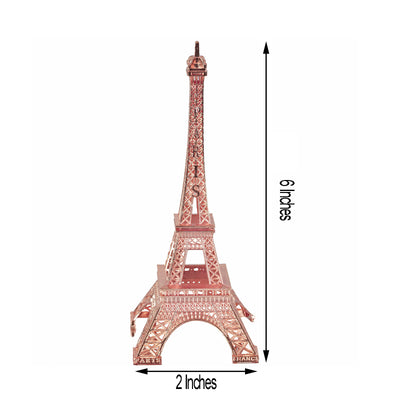 "6"" Tall Rose Gold Treasured Affection Eiffel Tower"