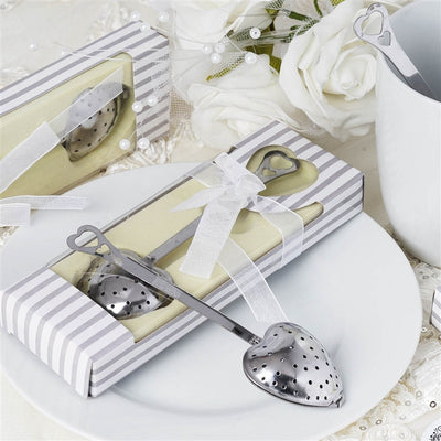 Wholesale Heart Shaped Tea Infuser Spoon Filter Wedding Bridal Shower Favor Gift
