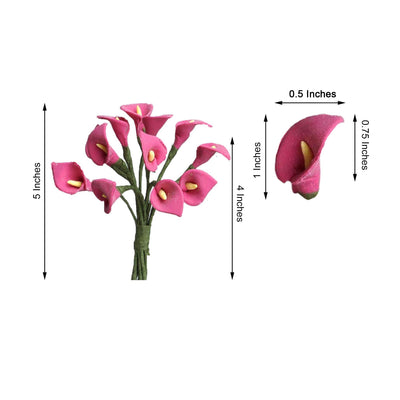 144 Pack | Fushia Peacock Spread Craft Lilies