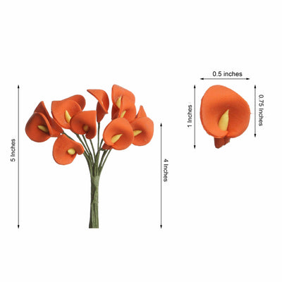 144 Pack | Orange Peacock Spread Craft Lilies
