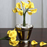 144 EXTRA TOUCH Peacock-Spread Craft Lilies- Yellow