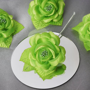 12 ACCENT Bellissimo Craft Roses - Apple Green