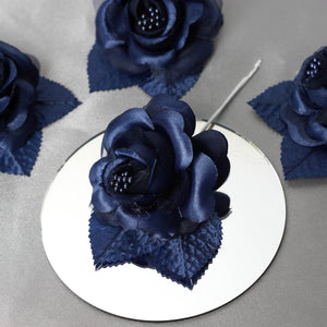 12 ACCENT Bellissimo Craft Roses - Navy