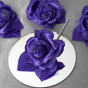 12 ACCENT Bellissimo Craft Roses - Purple