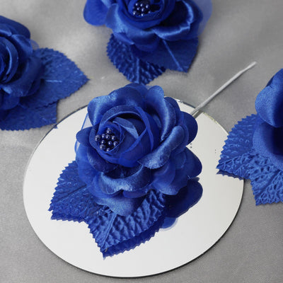 12 ACCENT Bellissimo Craft Roses - Royal Blue