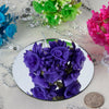 72 Pack | Chocolate Shimmering Organza Craft Roses | Artificial Roses - Clearance SALE