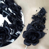 "12 Pack 8"" Black Hair Barrette Headpiece"