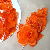 "12 Pack 8"" Orange Hair Barrette Headpiece"