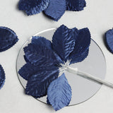 144 Burning Passion Leafs for Craft - Navy Blue