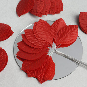 144 Burning Passion Leafs for Craft - Red