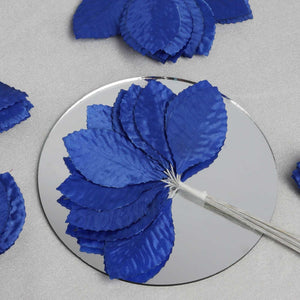 144 Burning Passion Leafs for Craft - Royal Blue