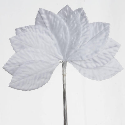 144 Burning Passion Leafs for Craft - White