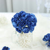 144 Navy Blue Paper Mini Flower Roses