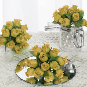 144 Champagne Poly Rose Buds DIY Favor Craft