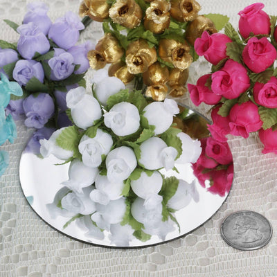 144 Baby Blue Poly Rose Buds Wedding Bouquet Flowers Decoration