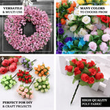 144 Pcs All Gold Wired Rose Flowers For Bridal Bouquet Craft Embellishment