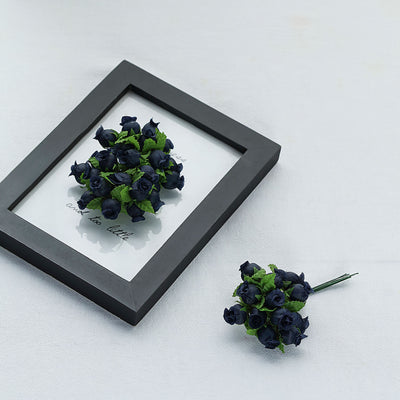 144 Navy Blue Poly Rose Buds DIY Favor Craft