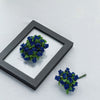 144 Pcs Royal Blue Wired Rose Flowers For Bridal Bouquet Craft Embellishment