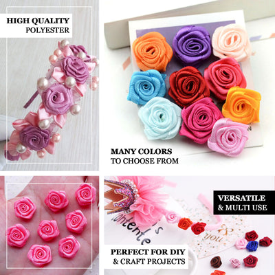 144 PCS Boutonniere Ivory Rosebud Flower Applique DIY Brooch - Clearance SALE