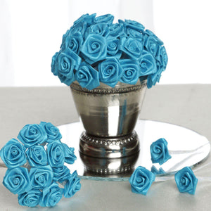 144 PCS Boutonniere Turquoise Rosebud Flower Applique DIY Brooch
