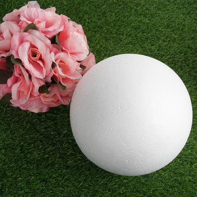 "4 x Customizable PARTY BALL - 8"" White Styrofoam"