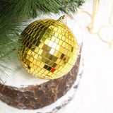 "4 Pcs 4"" Gold Glass Mirror Disco Ball 