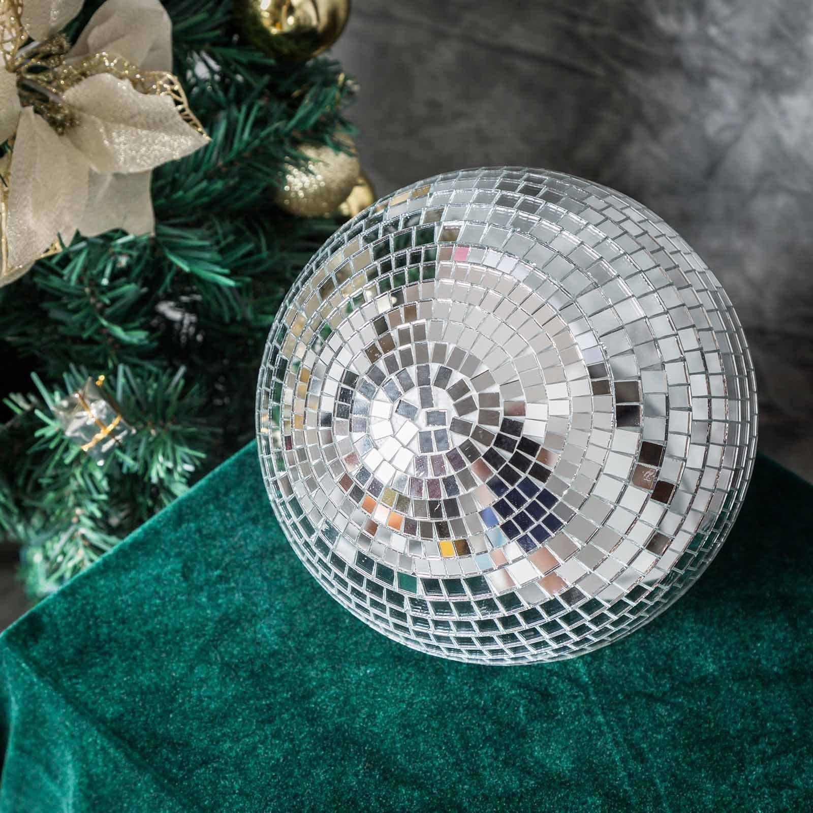 4 pcs 8 groovy glass mirror disco ball