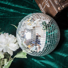 "2 Pcs 12"" Groovy Glass Mirror Disco Ball Party Decoration"