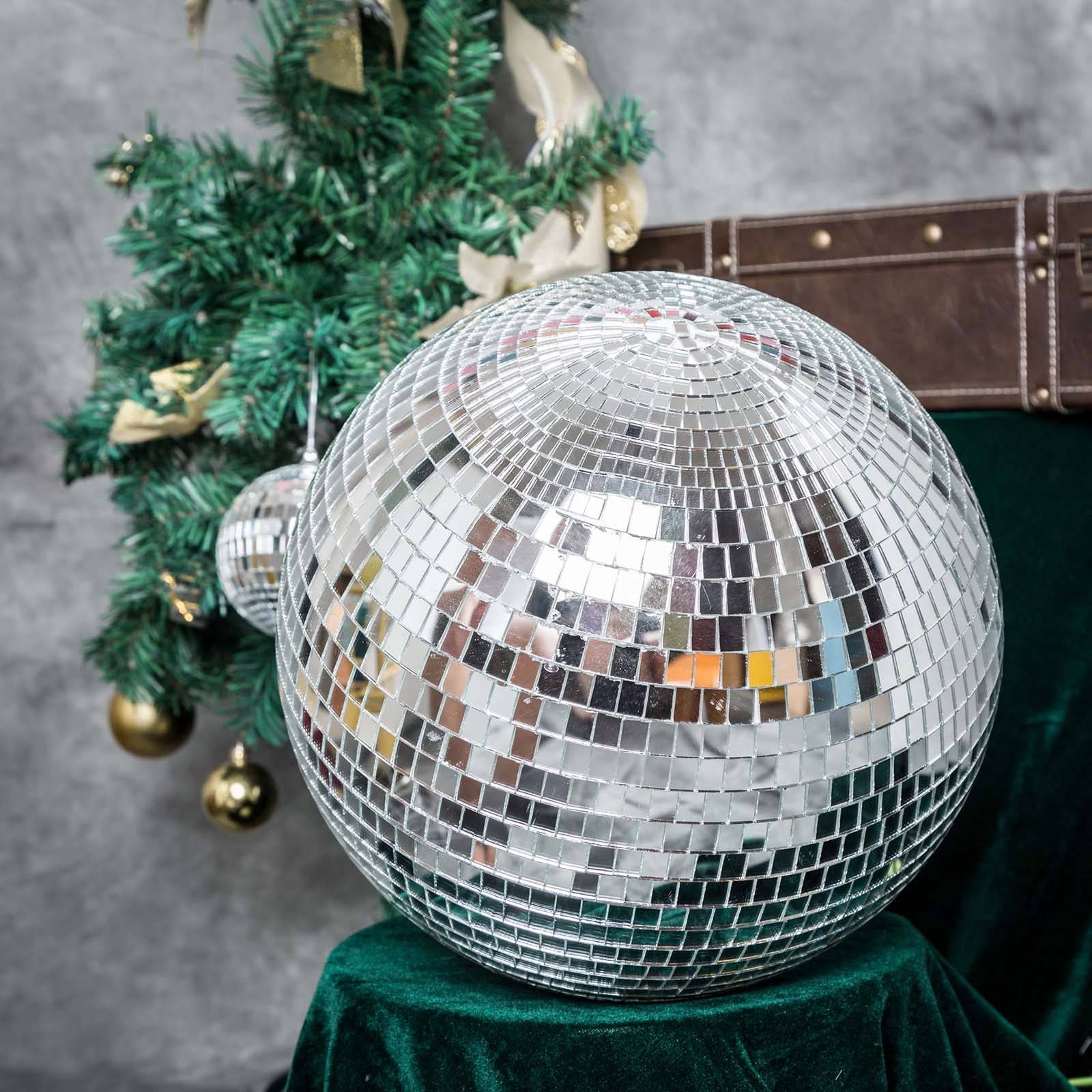 16 groovy glass mirror disco ball