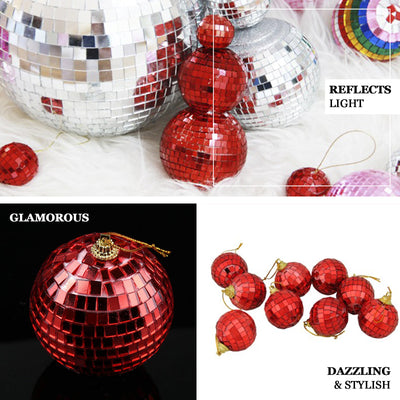 "20"" Red Disco Mirror Ball - Large Disco Ball with Hanging Swivel Ring - Clearance SALE"