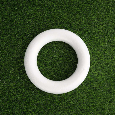 "12 Pack | 8"" White Styrofoam Foam Circle"