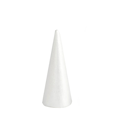 "24 Pack | 6"" White Styrofoam Foam Cone"