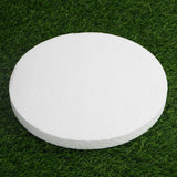 "12 Pack | 10"" White Styrofoam Foam Disc"