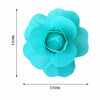 "6 Pack 8"" Large Turquoise Real Touch Artificial Foam Craft Roses"
