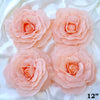 "4 Pack 12"" Large Real Touch Artificial Foam Craft Roses- Rose Gold 