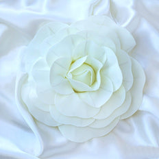 "4 Pack 12"" Large Ivory Real Touch Artificial Foam Craft Roses"
