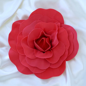 "4 Pack 12"" Large Red Real Touch Artificial Foam Craft Roses"