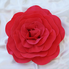 "4 Pack 16"" Large Red Real Touch Artificial Foam Craft Roses"