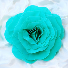 "4 Pack 16"" Large Turquoise Real Touch Artificial Foam Craft Roses"
